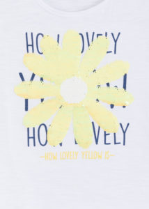 Camiseta lentejuelas margarita