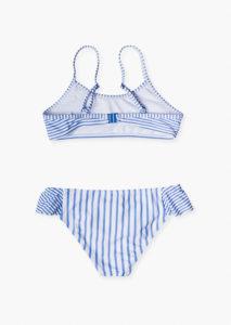 Bikini rayas azul