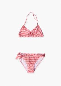 Bikini rayas rojo