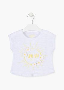 Camiseta sol bordado