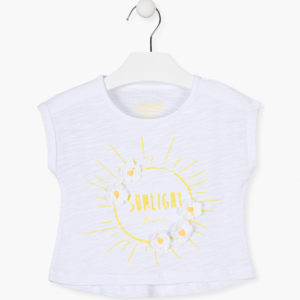 Camiseta sol bordado