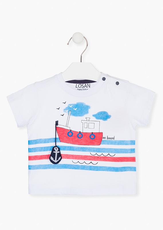 Camiseta bebé marinera