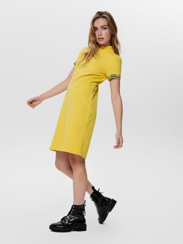 Vestido amarillo Only