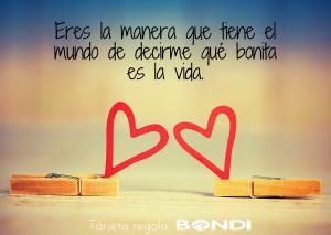 Tarjeta regalo BONDI de Amor